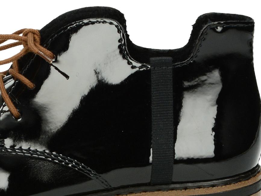 Rieker dámske poltopánky - čierne