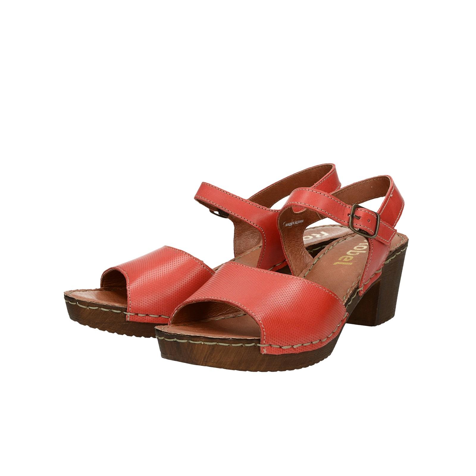 e7f14bb379f1 Robel dámske kožené sandále - červené ...