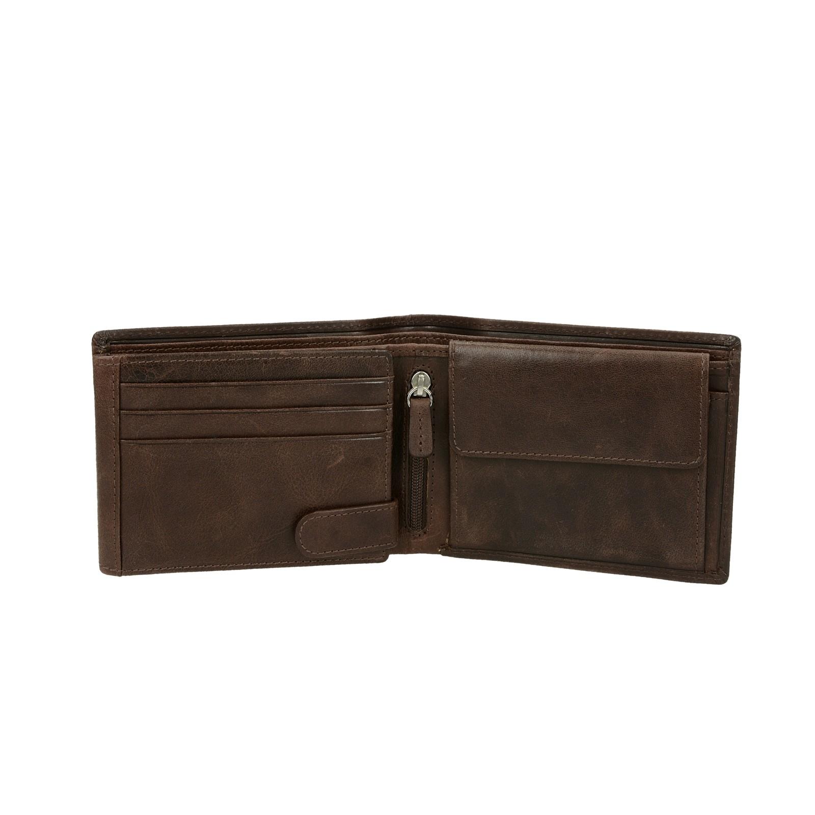Metropoli pánska kožená peňaženka - hnedá
