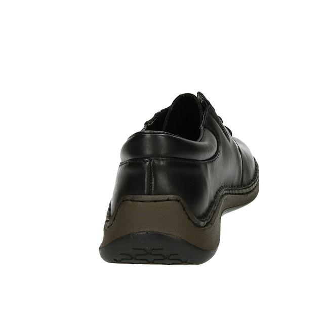 Rieker pánske kožené poltopánky - čierne
