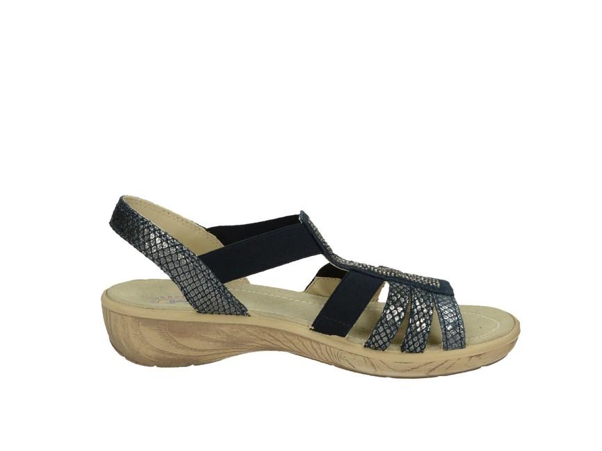 330006b15fd0 ... Imac dámske kožené sandále - tmavomodré ...