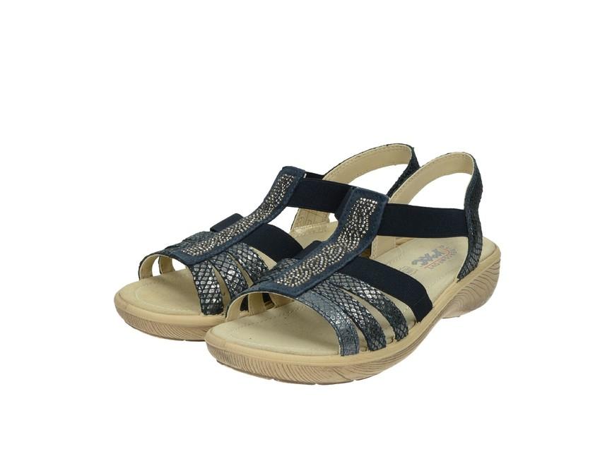 37fb0e04865c Imac dámske kožené sandále - tmavomodré ...