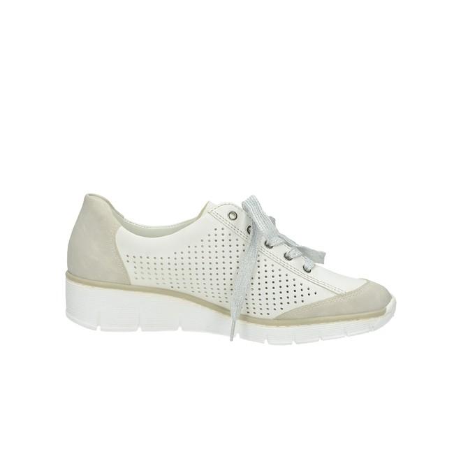Rieker dámske perforované tenisky - biele ... 2167932330