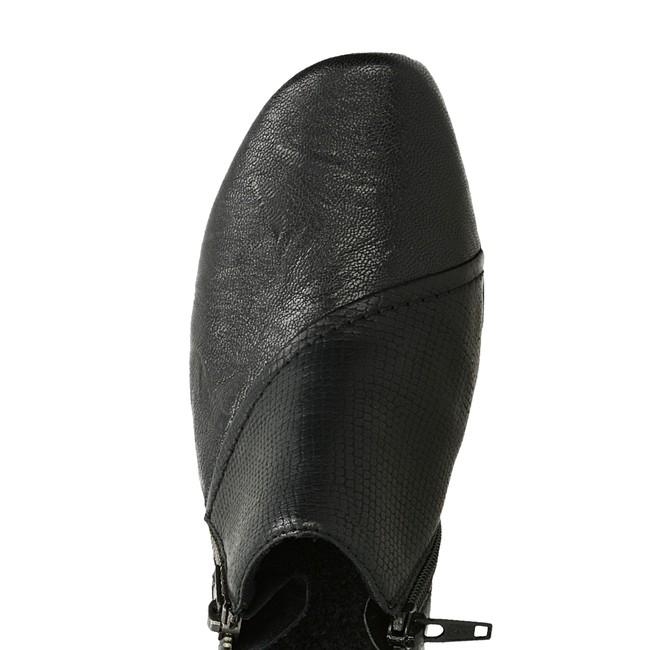 Rieker dámske poltopánky na zips - čierne