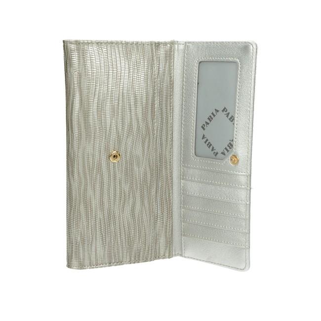 Pabia dámska štýlová peňaženka - strieborná