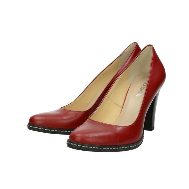 2a8b7cb08c0c ... Acord dámske kožené lodičky - červené ...