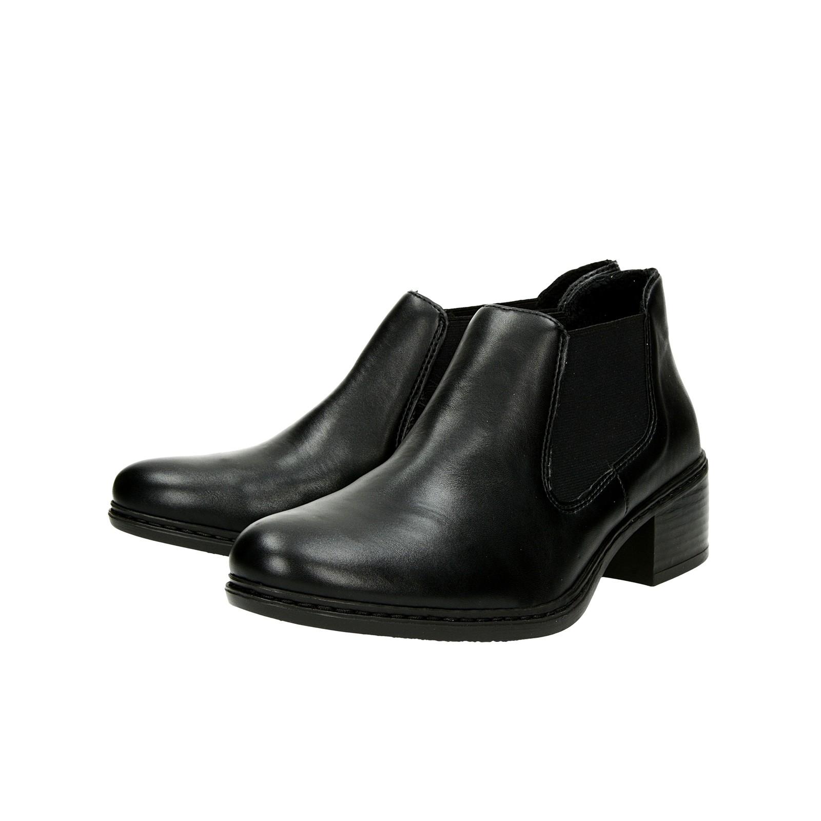 5b84a159bfc3 ... Rieker dámske pohodlné kotníky - čierne ...