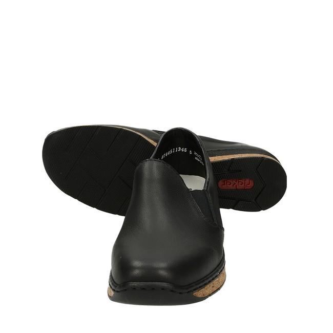Rieker dámske kožené poltopánky - čierne