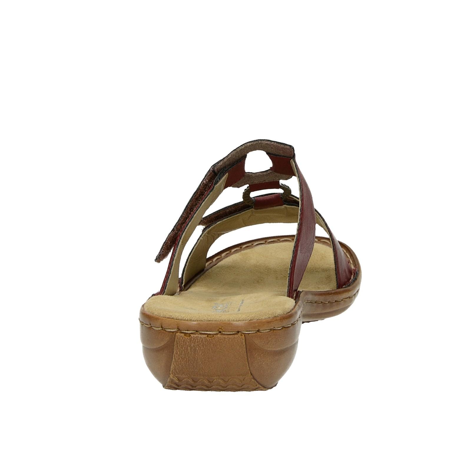 8a42afe02486 ... Rieker dámske pohodlné sandále na suchý zips - bordové ...
