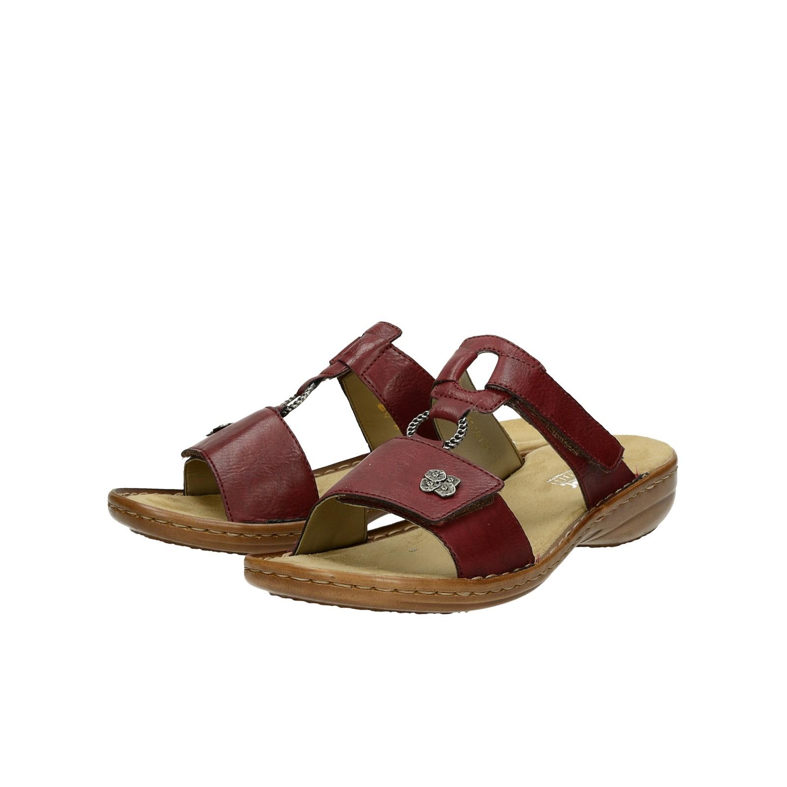 c226692b900c Rieker dámske pohodlné sandále na suchý zips - bordové ...