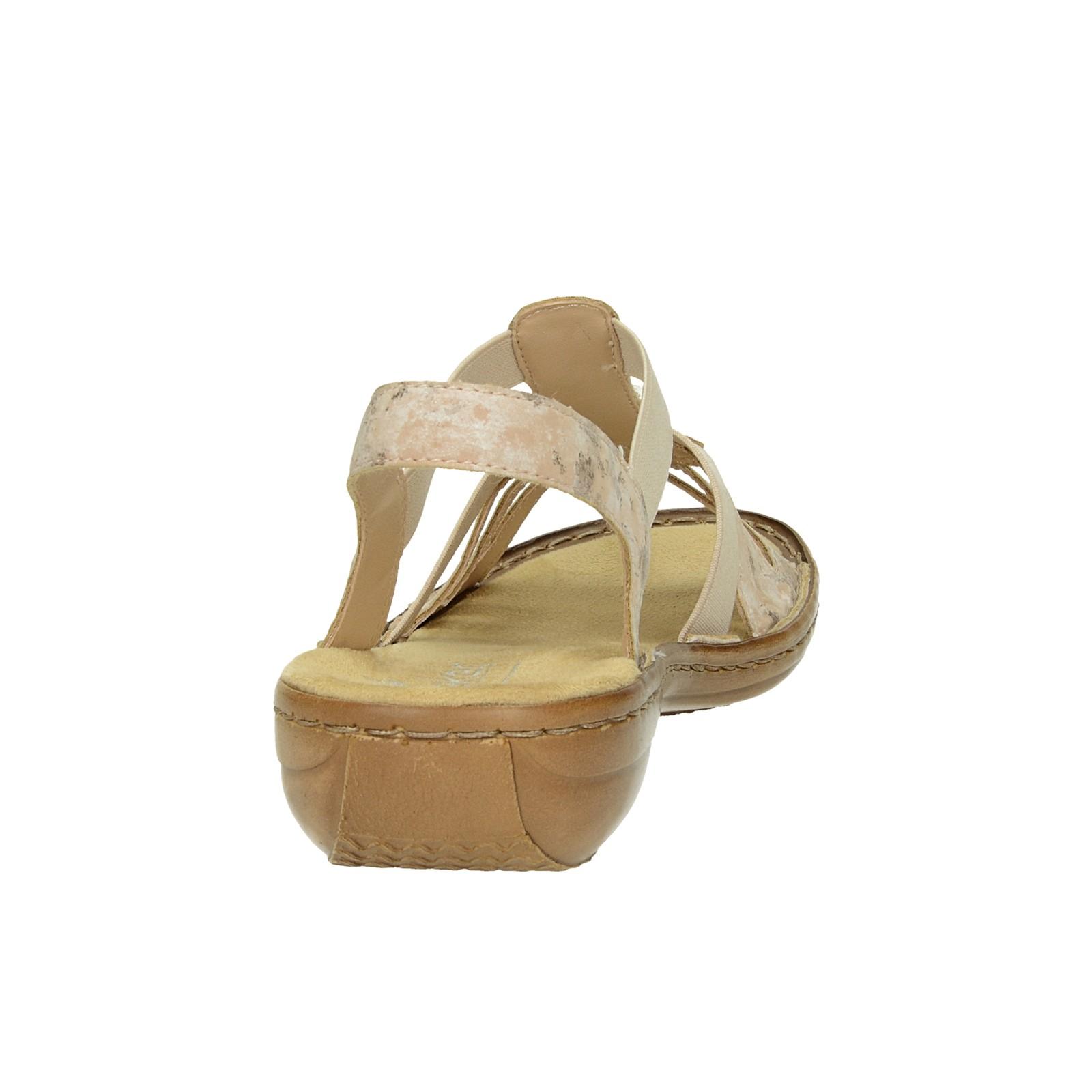 41e679375fd5 ... Rieker dámske štýlové sandále s ozdobnými kamienkami - ružové ...