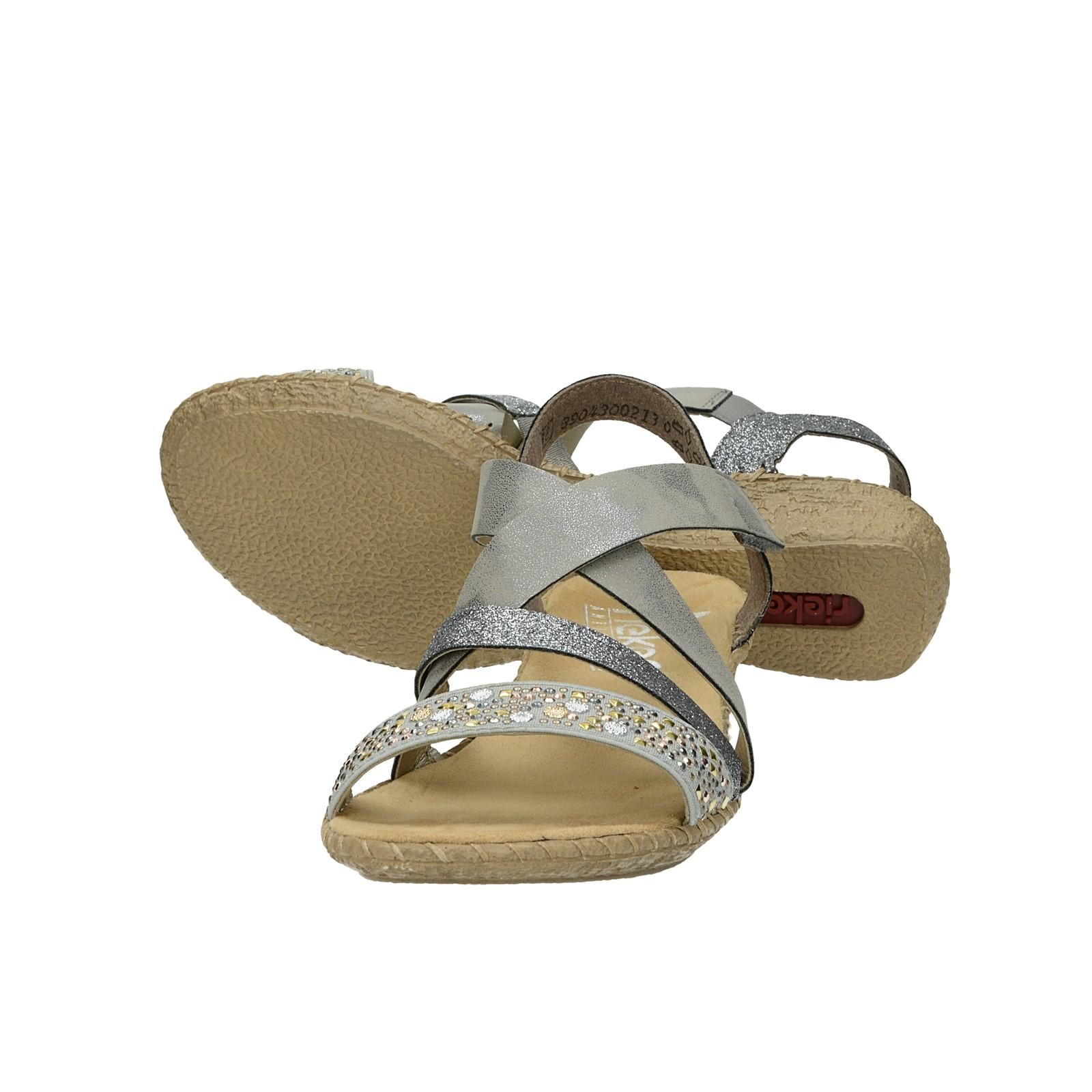 233fb18f3386 ... Rieker dámske štýlové sandále s ozdobnými prvky - šedé ...