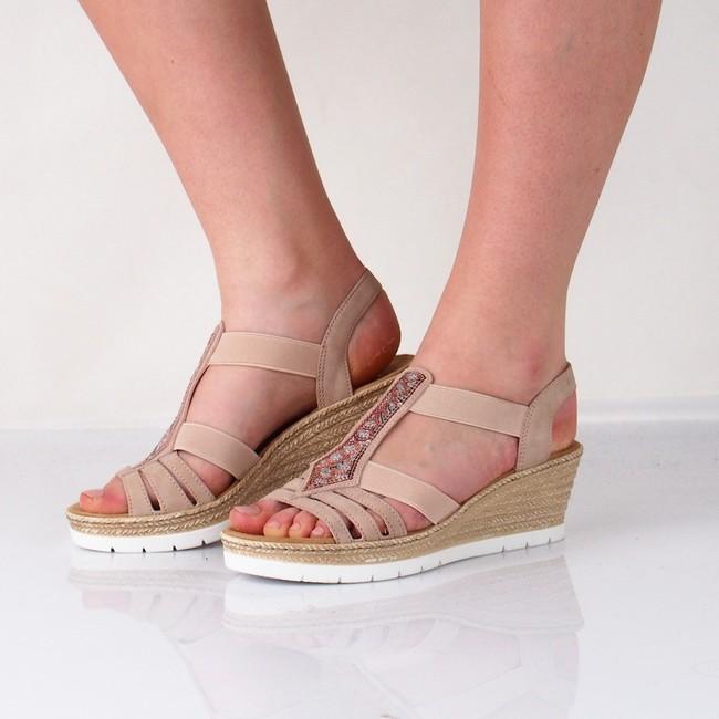 e16a8b323fd8 Rieker dámske štýlové sandále - ružové ...
