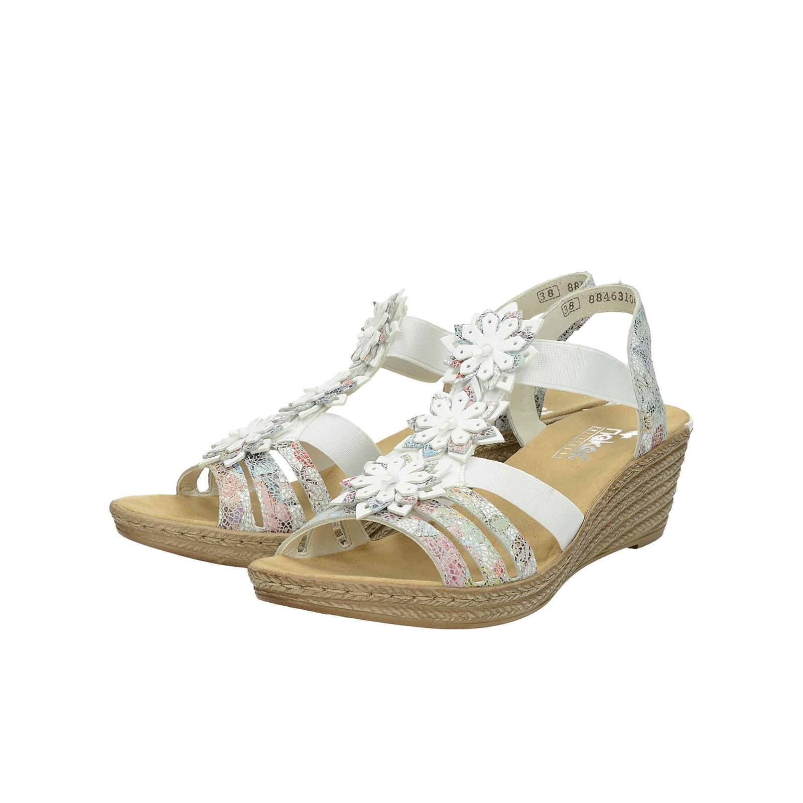 d60926290bf3 Rieker dámske štýlové sandále - biele ...