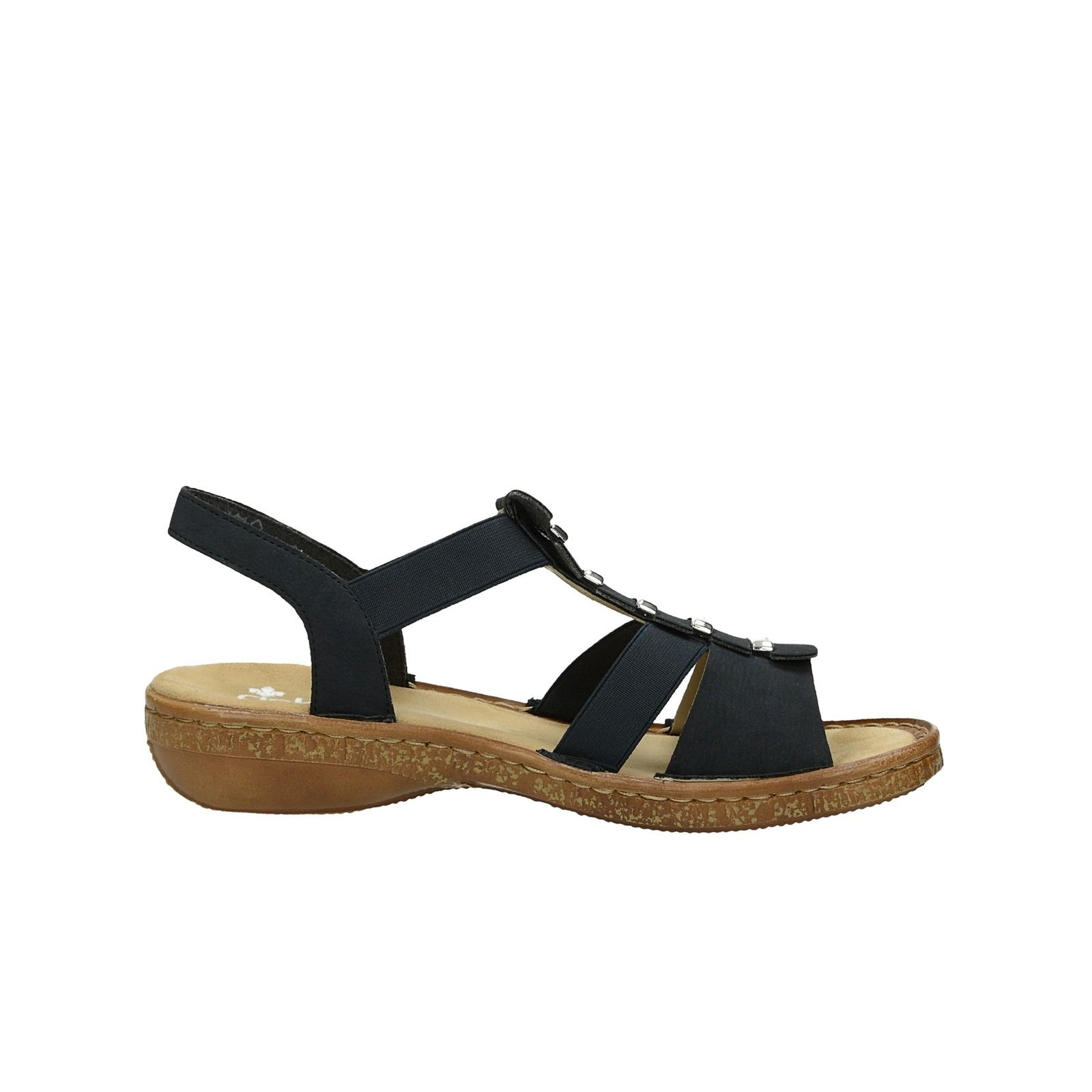 748ec1c86e90 ... Rieker dámske pohodlné sandále - tmavomodré ...