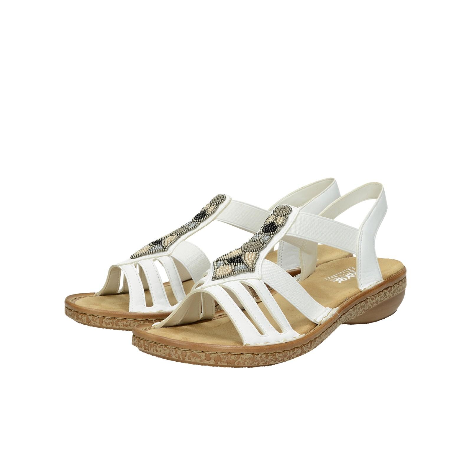 44775529f136 Rieker dámske elegantné sandále - biele ...