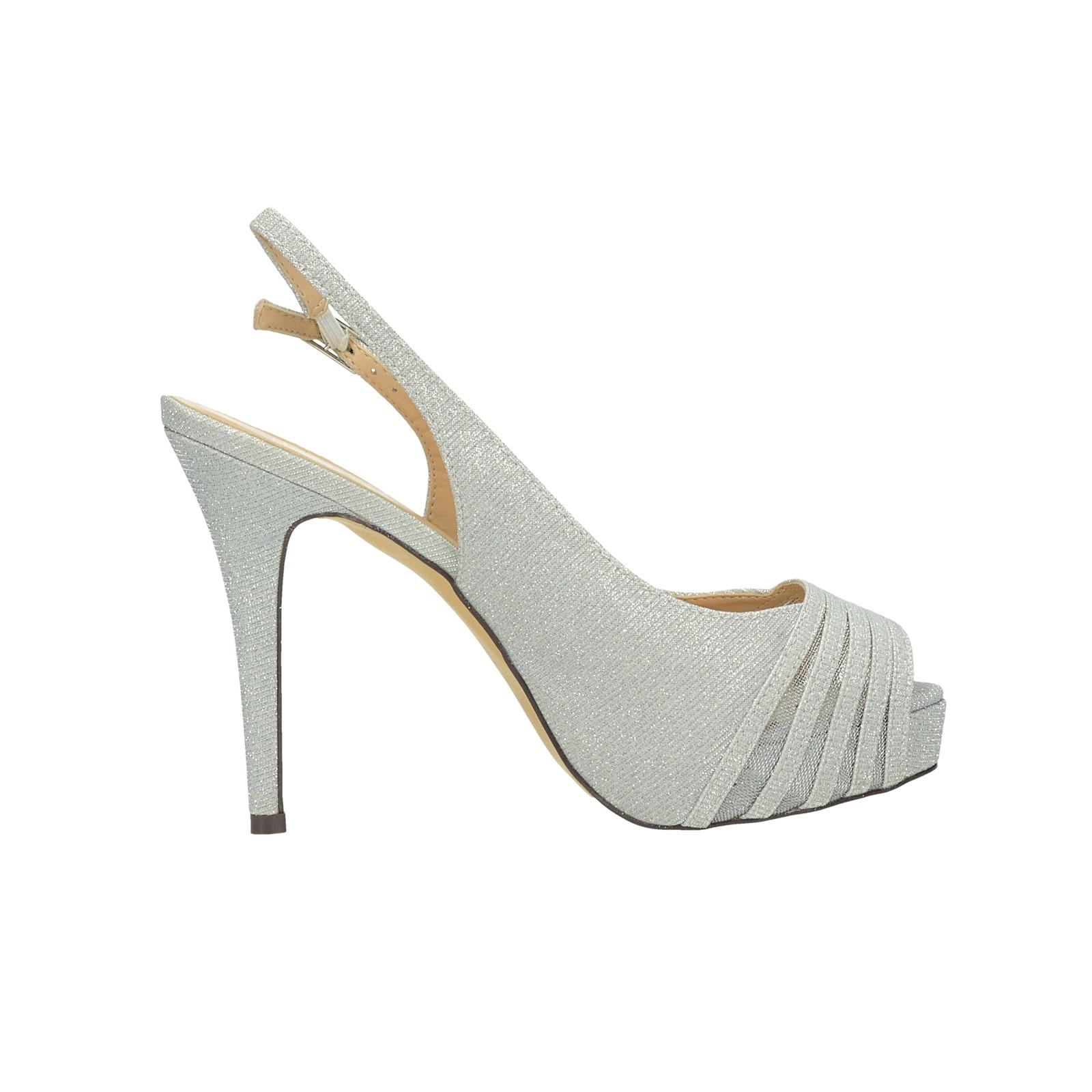 Menbur dámske spoločenské sandále - strieborné