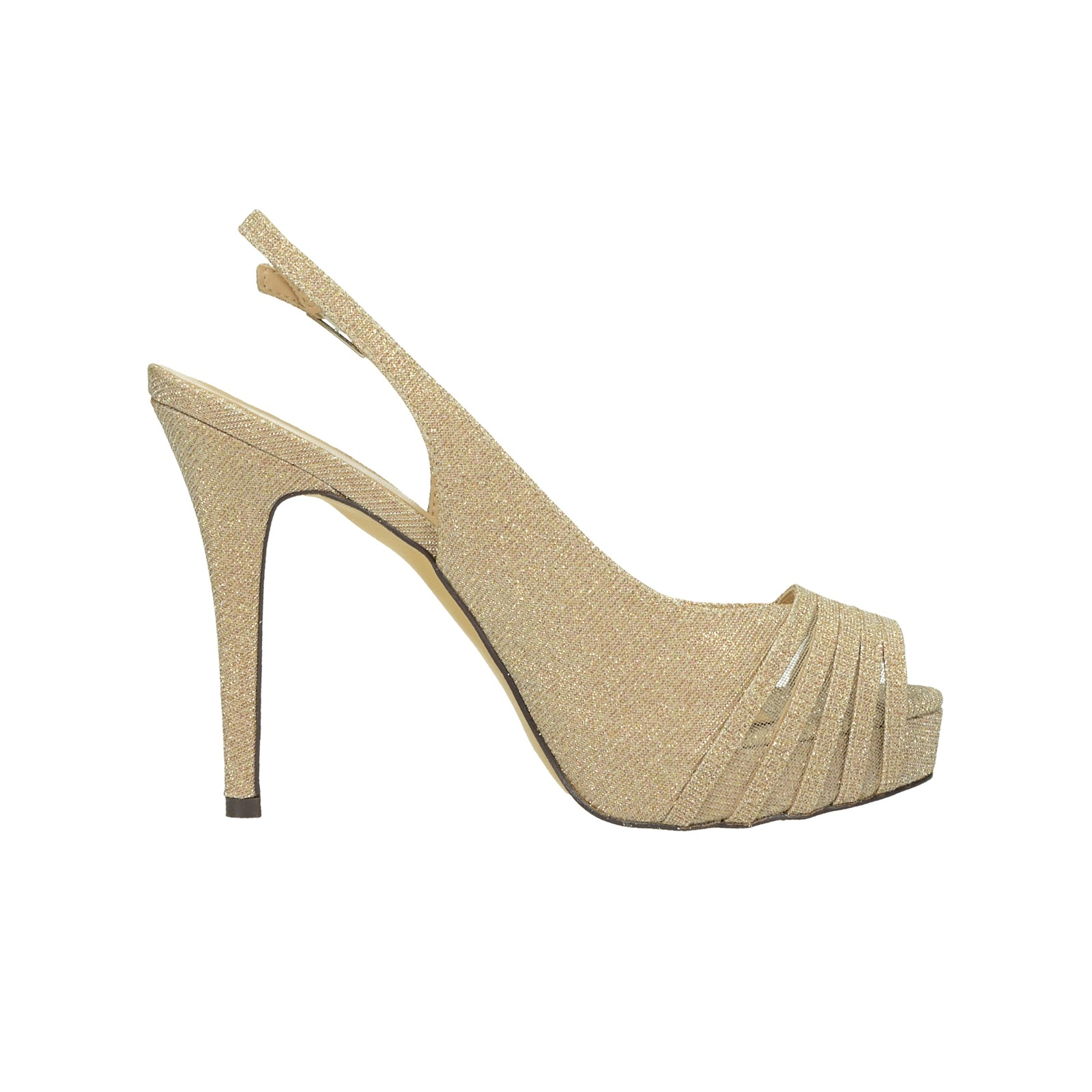 Menbur dámske spoločenské sandále - zlaté