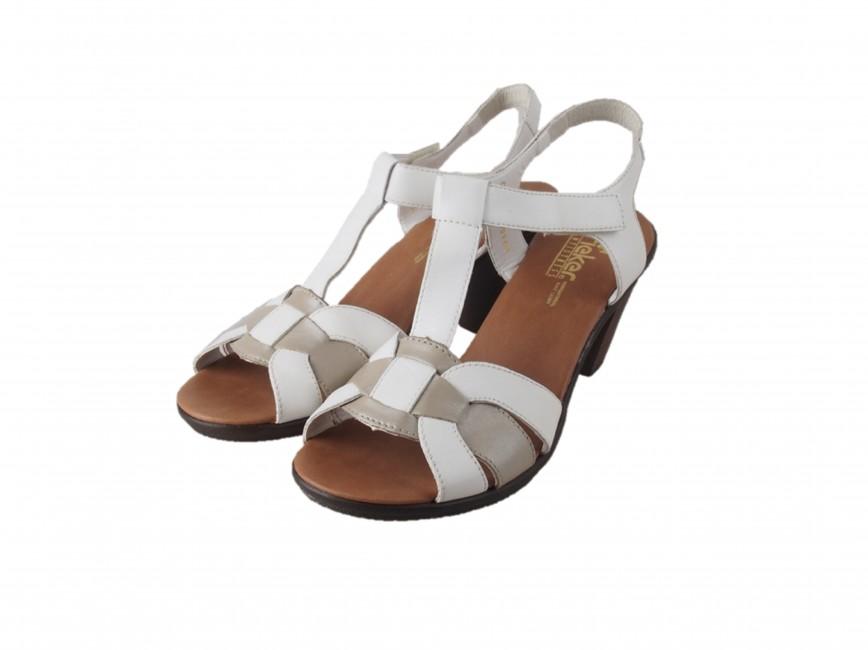 3939c20636cb Rieker dámske sandále - biele ...