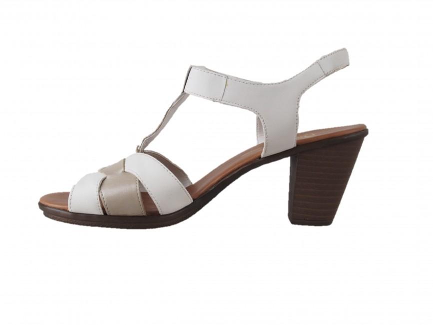 f19d95fc521d ... Rieker dámske sandále - biele ...