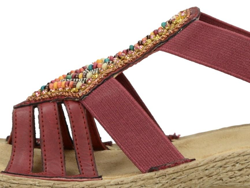 811ca121cd97 ... Rieker dámske štýlové sandále s ozdobnými prvkami - bordové ...
