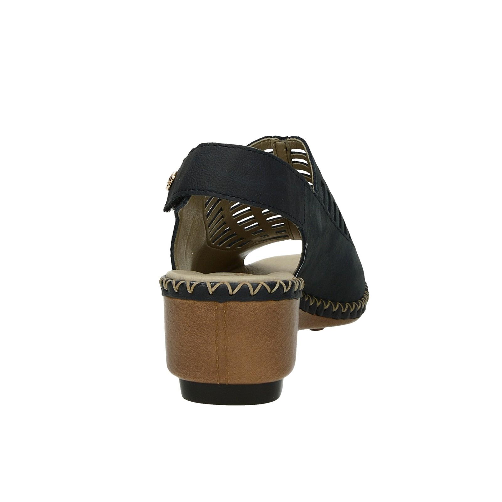 2d83ba38f542a Rieker dámske nubukové perforované sandále - tmavomodré | 6615714 ...