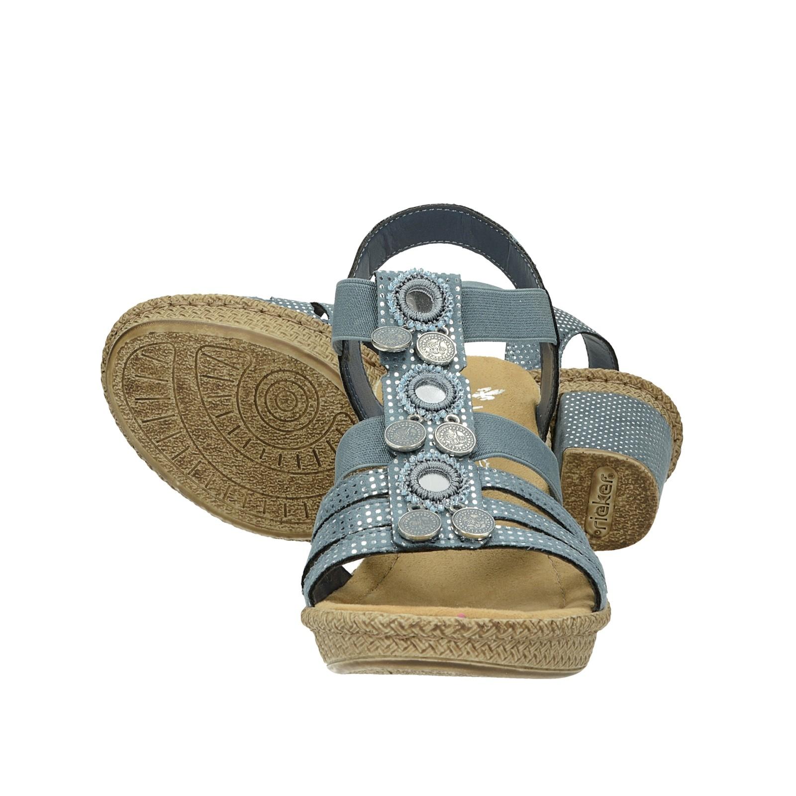 396d97c13f45f Rieker dámske štýlové sandále - modré | 6652712-BLU www.robel.sk