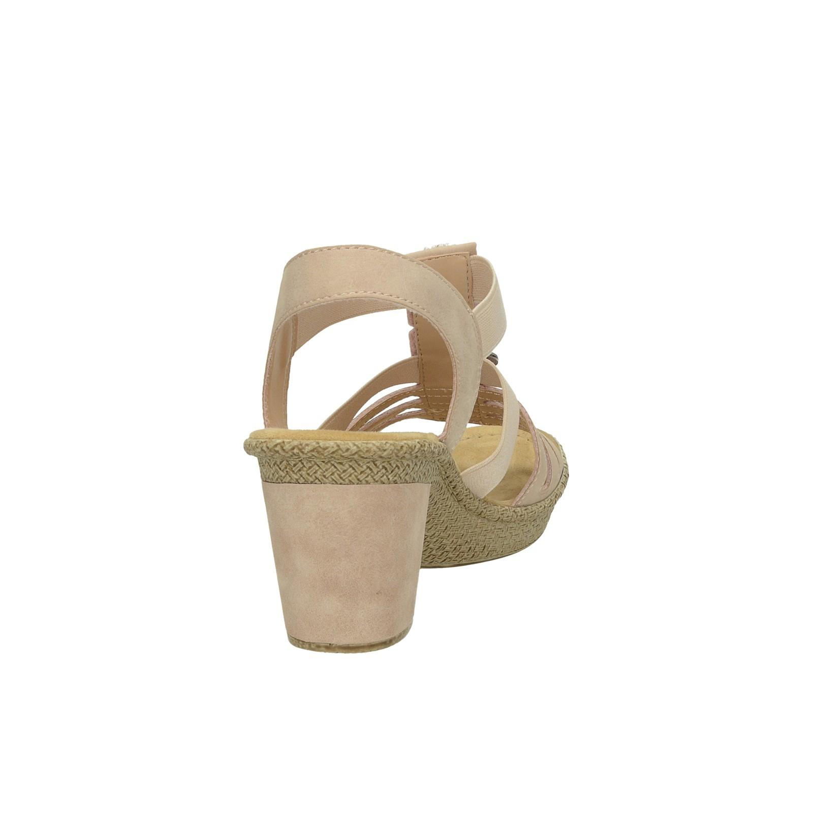 fafe8681cce9 ... Rieker dámske štýlové sandále s ozdobnými prvkami - ružové ...