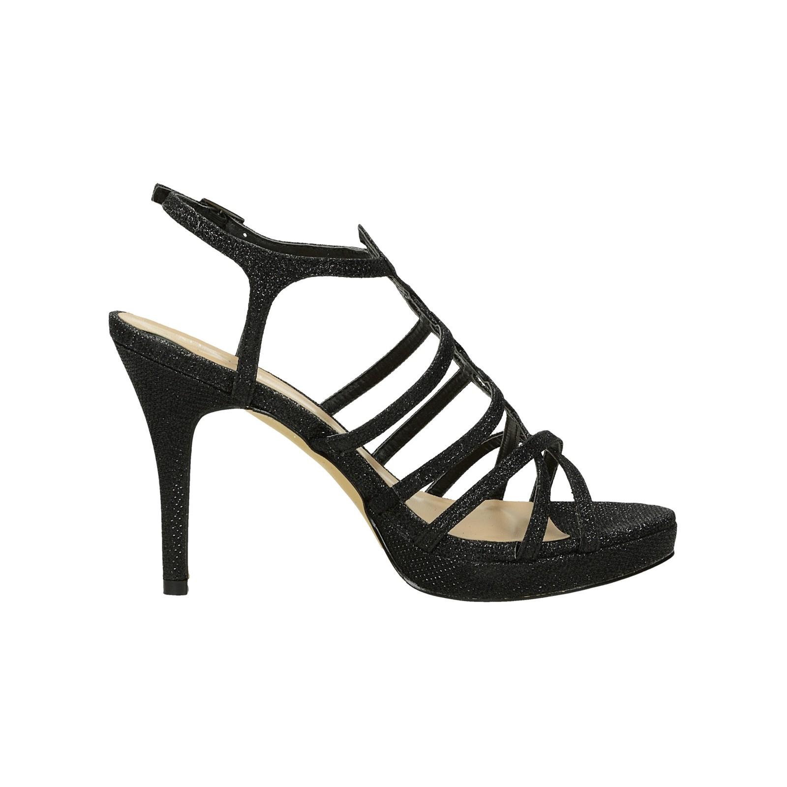 Menbur dámske spoločenské sandále - čierne