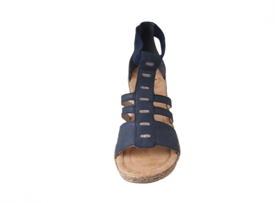 a68863e812 ... Rieker dámske kožené sandále - modré ...