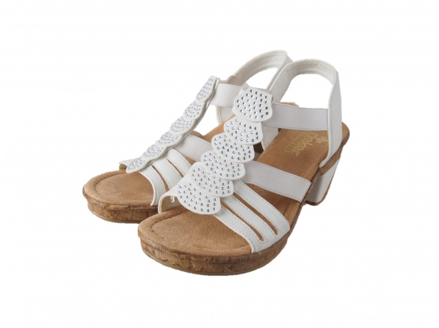 145eb47c1f36 Rieker dámske sandále - biele ...