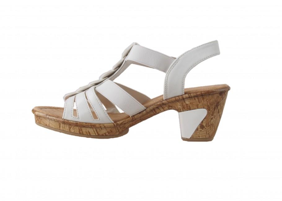 411d540f9434 ... Rieker dámske sandále - biele ...