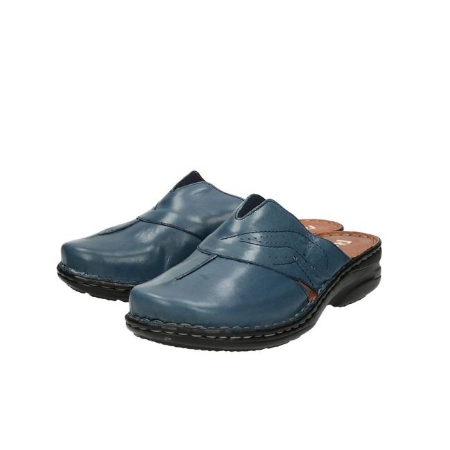 44b9fd729f9b4 Robel dámske kožené šľapky - modré | 7182844-OCEAN www.robel.sk
