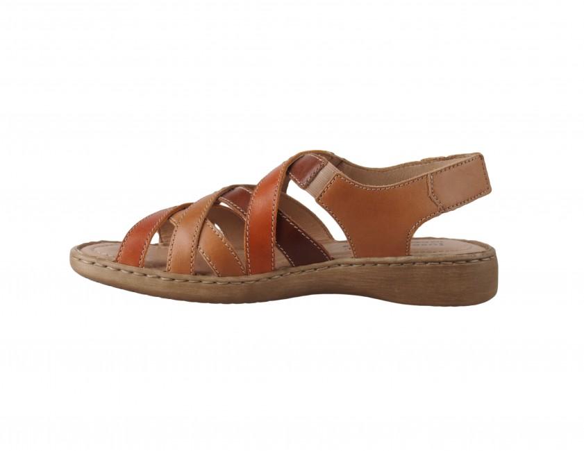 fbdb625dfeb8 ... Josef Seibel dámske kožené sandále - hnedé ...