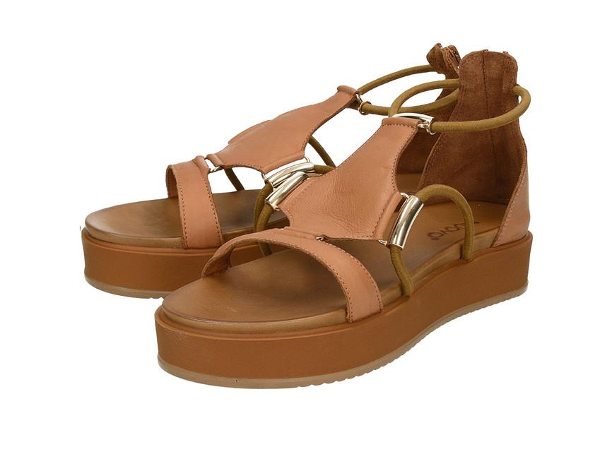 d44436be1b Inuovo dámske štýlové sandále so zipsom - hnedé ...