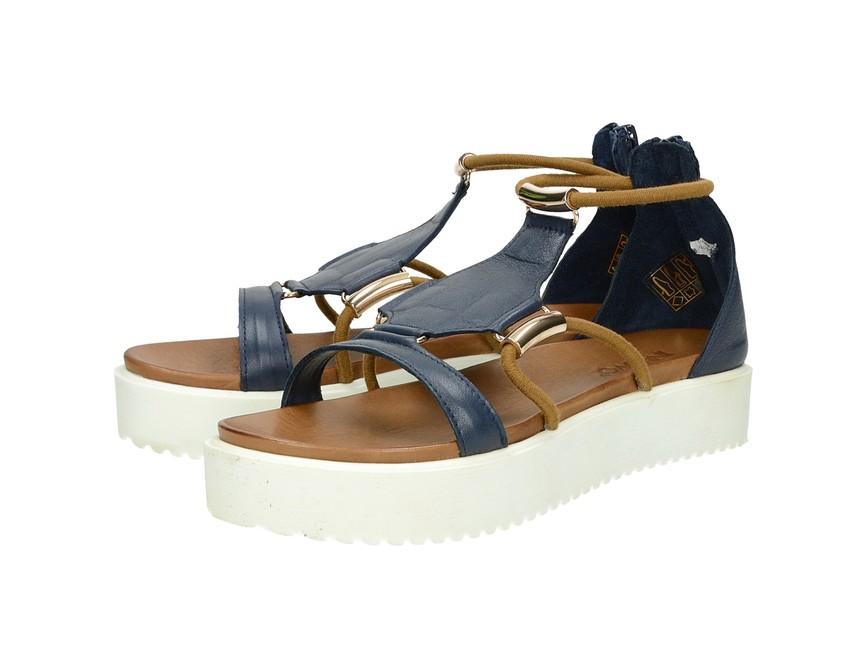 d5f75f7c67 ... Inuovo dámske štýlové sandále na platforme - modré ...