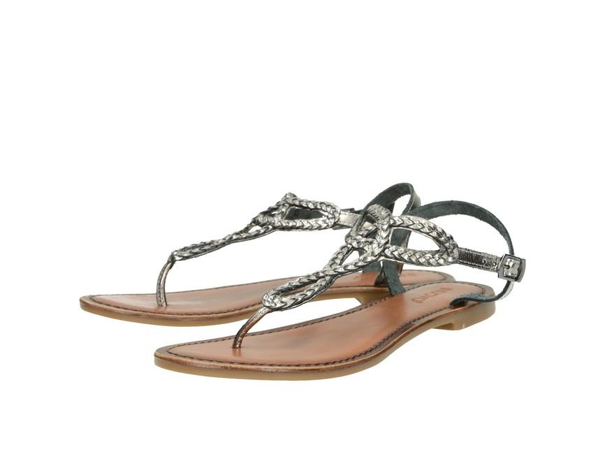 f4583f7e0c16f Inuovo dámske sandále s remienkom - strieborné | 7521-PEWTER www ...