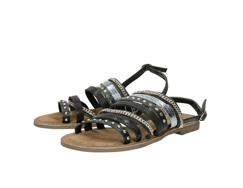 c0c0b0da022b Lazamani dámske štýlové sandále s ozdobnými prvkami - čierne ...