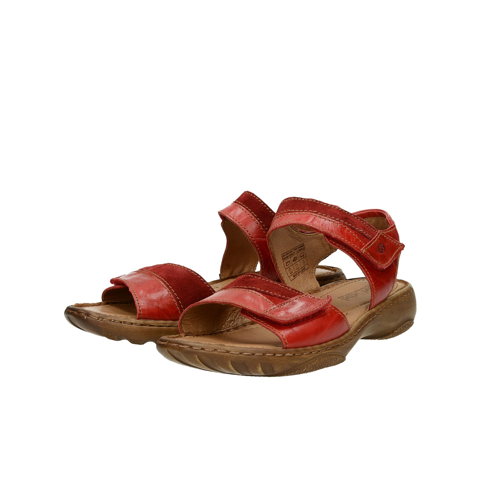 c44d5dc44eca ... Josef Seibel dámske kožené sandále - červené ...
