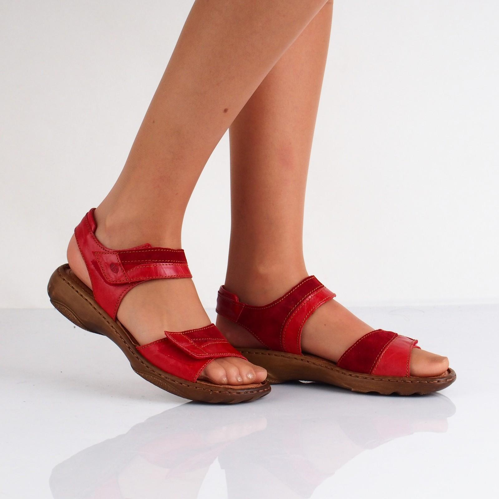 b28155693da4 Josef Seibel dámske kožené sandále - červené ...