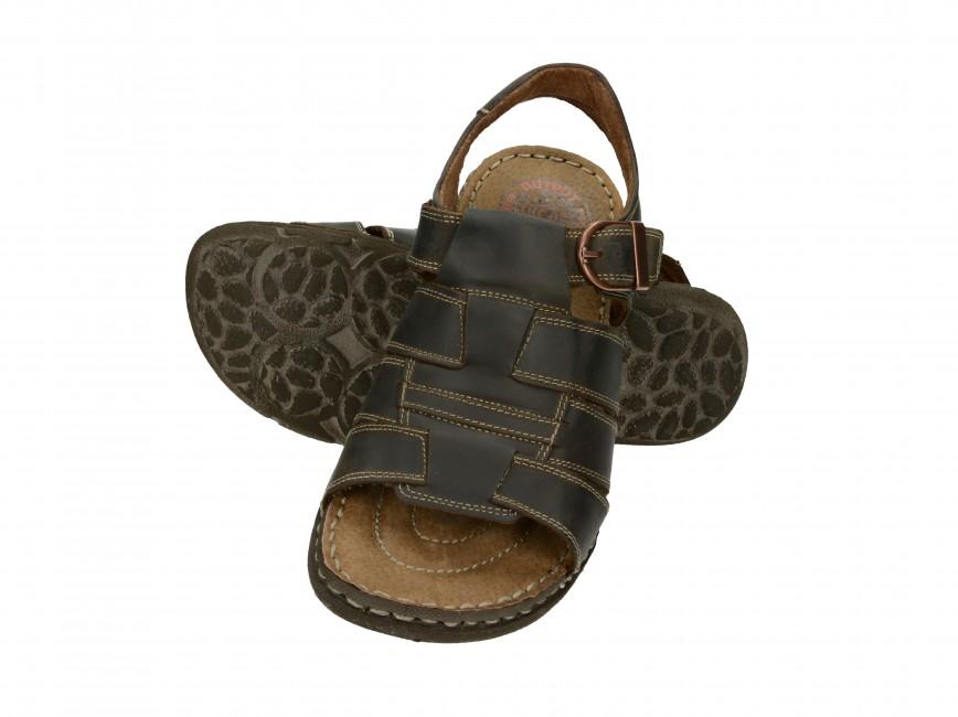 537b4b5b3f Girza pánske kožené sandále - hnedé ...