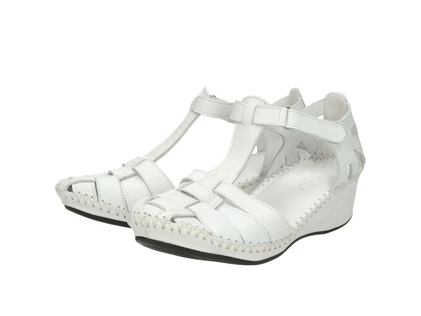 1398a03c42b0 Robel dámske pohodlné sandále na suchý zips - biele ...