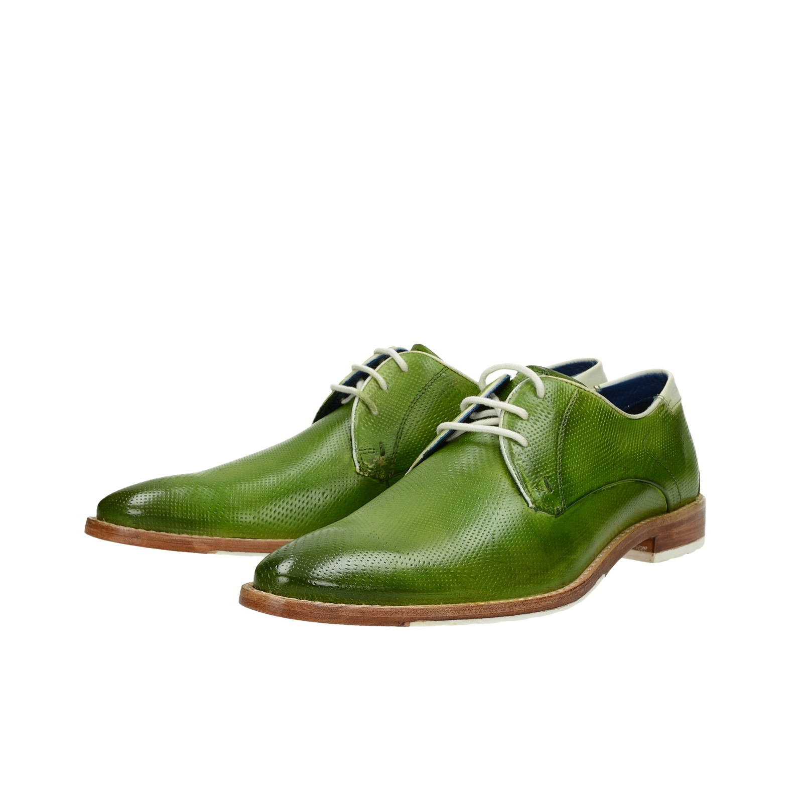 a0228498b22b Daniel Hechter pánske kožené štýlové topánky - zelené ...