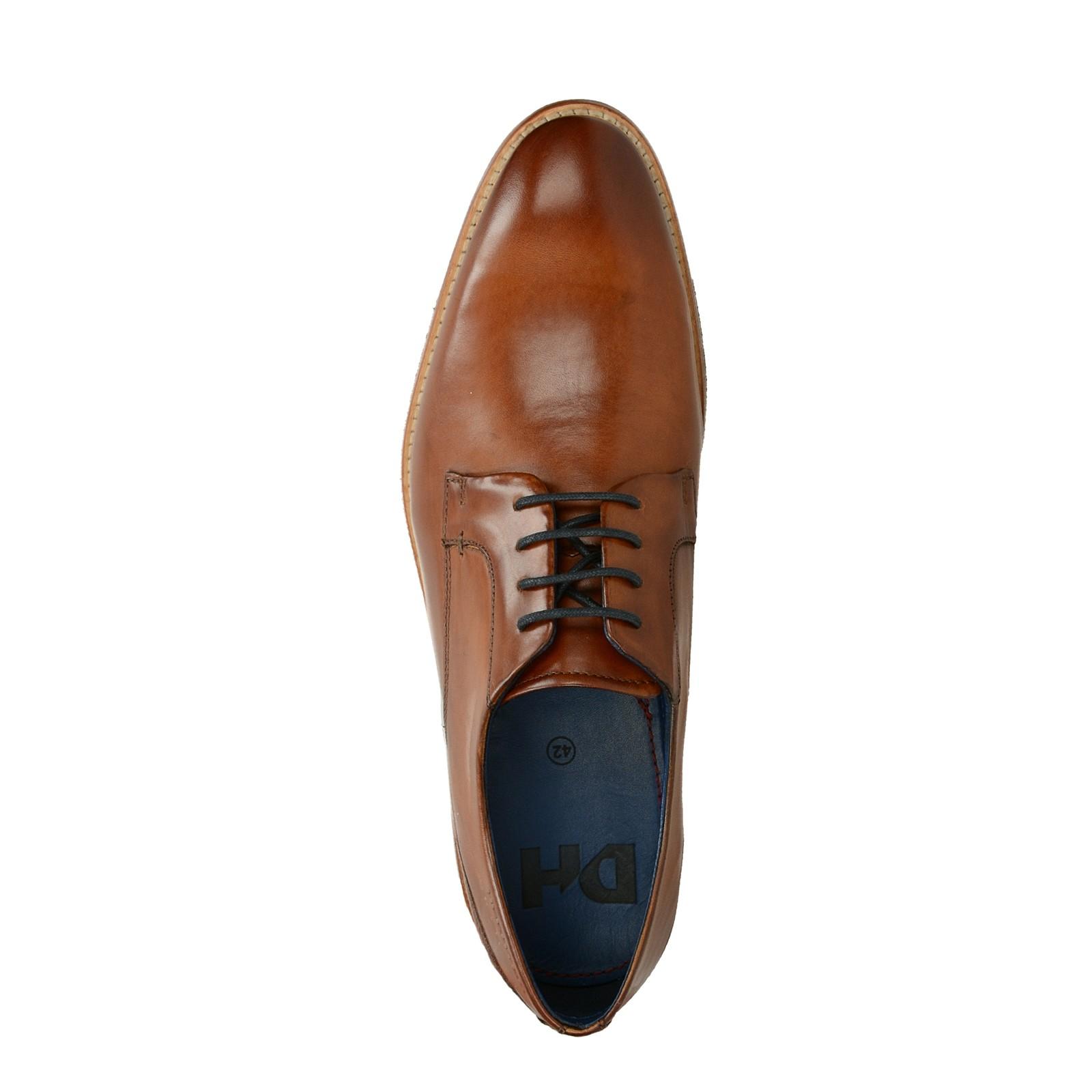 e6a9afba380c Daniel Hechter pánske kožené spoločenské topánky - koňakové ...