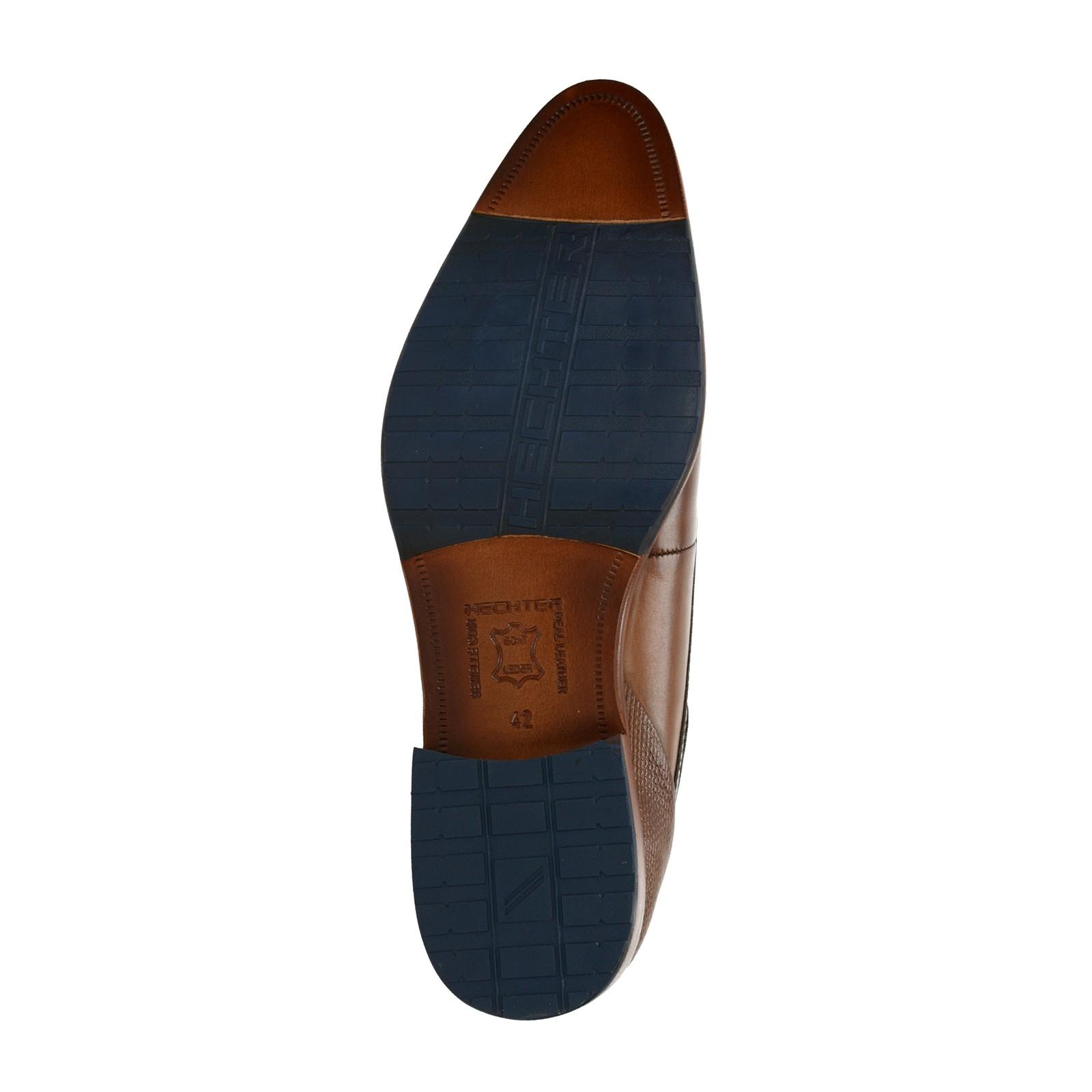 dbccfafa0876 ... Daniel Hechter pánske kožené spoločenské topánky - koňakové ...