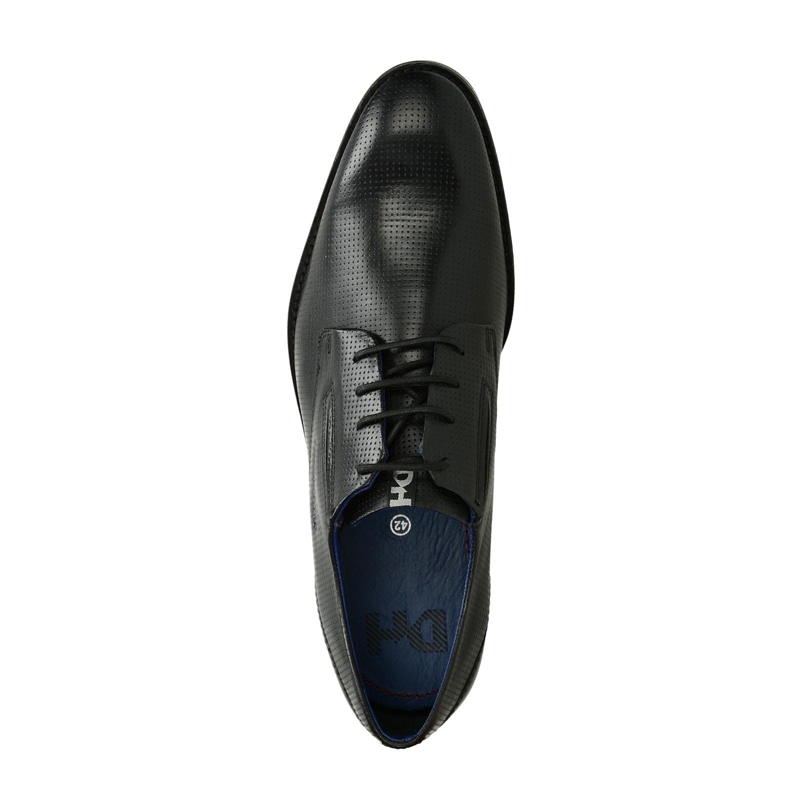 0225dfc6e4c6 Daniel Hechter pánske kožené spoločenské topánky - čierne ...