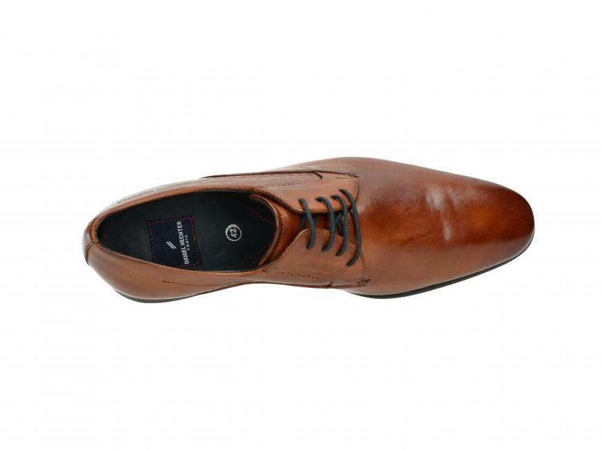 Daniel Hechter pánske spoločenské topánky - hnedé ... 538391fceef