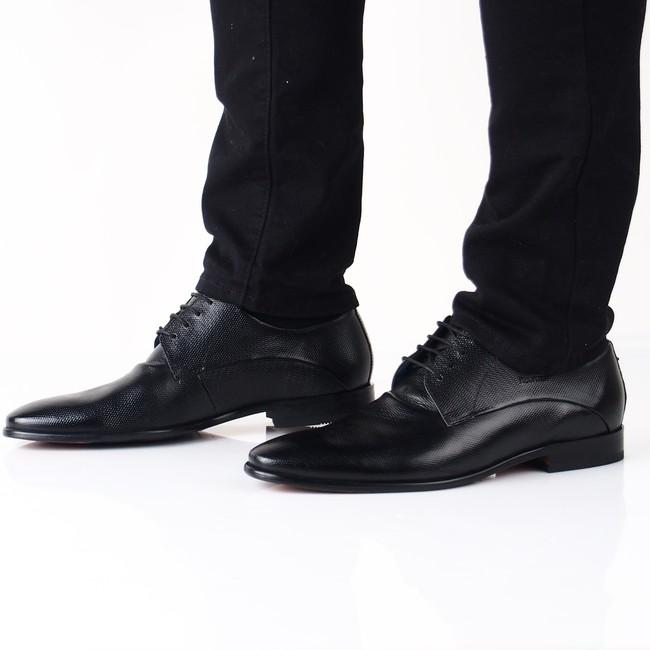 39c84bd44ffc Daniel Hechter pánske spoločenské topánky - čierne ...