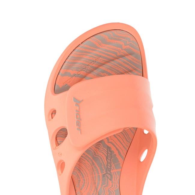 9c7834ce69db Rider dámske štýlové šľapky na suchý zips - oranžové ...