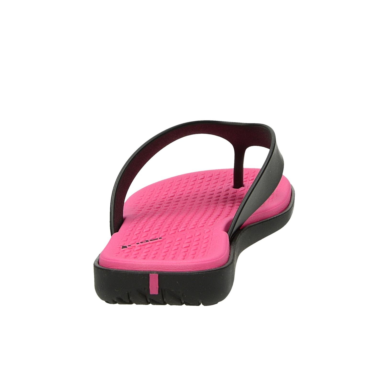 Rider dámske štýlové plážovky - ružovočierne